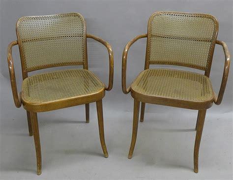 pair ligna czechoslovakia bentwood chairs