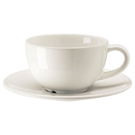Coffee Cup With Saucer vardagen coffee cup and saucer white 14 cl ikea
