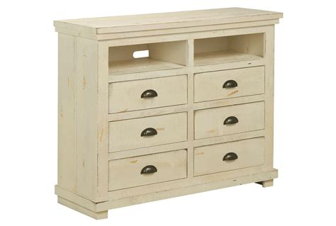 Media Dresser White by Sinclair White Media Chest Living Spaces
