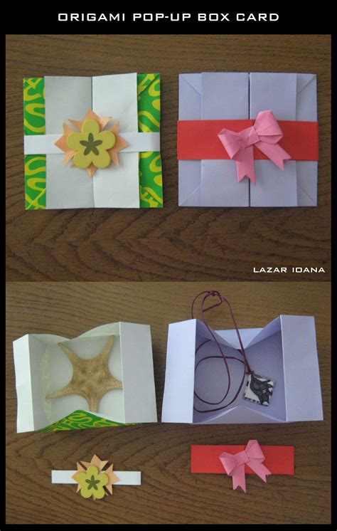 Pop Up Origami Card - origami containers learn 2 origami origami paper craft