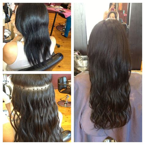 hairstyles for bead extensions micro bead extensions before and after last up to 6 months