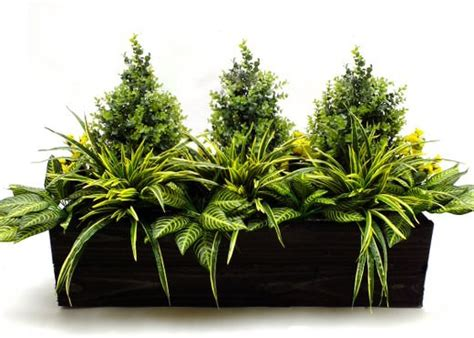 Charming What Are The Best Artificial Christmas Trees #6: Artificial-privet-and-pansy-trough_1.jpg