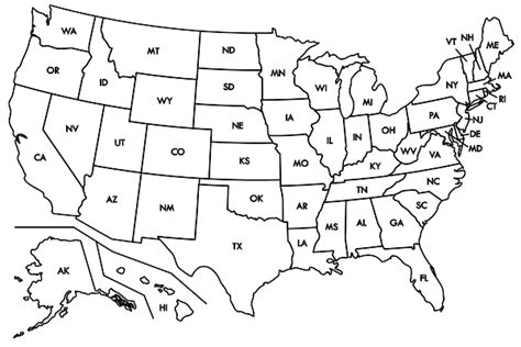 printable map of the united states without state names blank map of the united states with rivers images