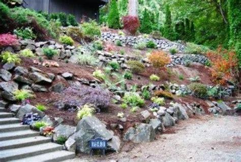 planting a hill slope garden this garden has multiple