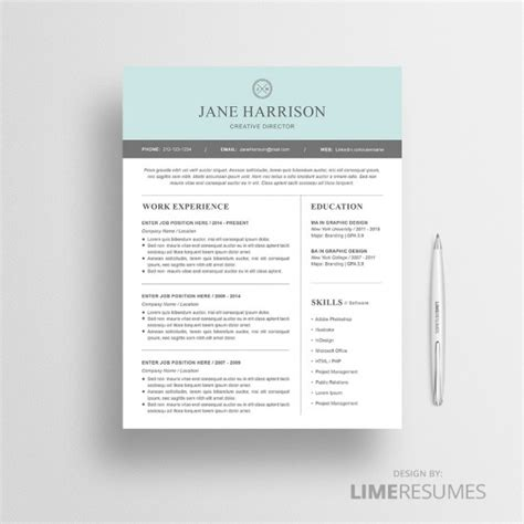 modern resume word template free modern resume template for microsoft word limeresumes