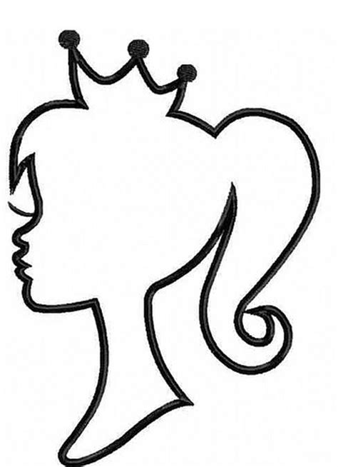 princess head coloring page princess silhouette one color flickr photo sharing