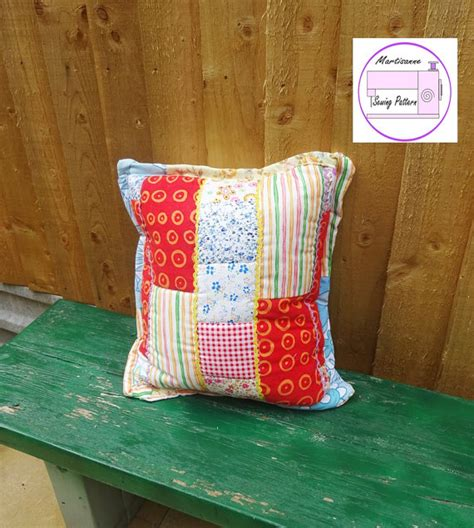 Quilted Pillow Pattern by Quilted Pillow Pattern Easy Sewing Pattern Quilt Block Pdf