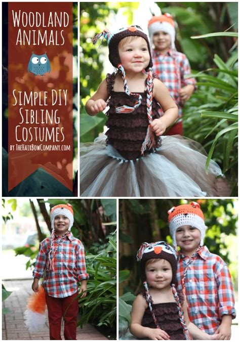 Gamis Sibling Basic Dress woodland animals simple sibling costumes the hair bow