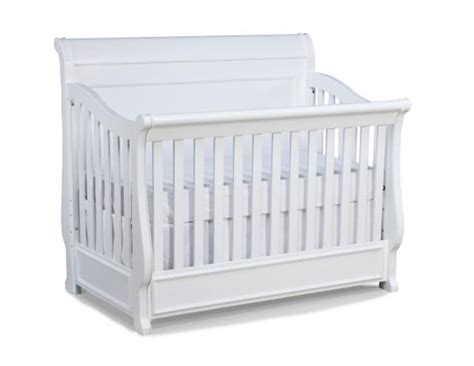 Convertible Crib Guard Rail Lifestyle White Convertible Crib W Toddler Daybed Guard Rail The Home