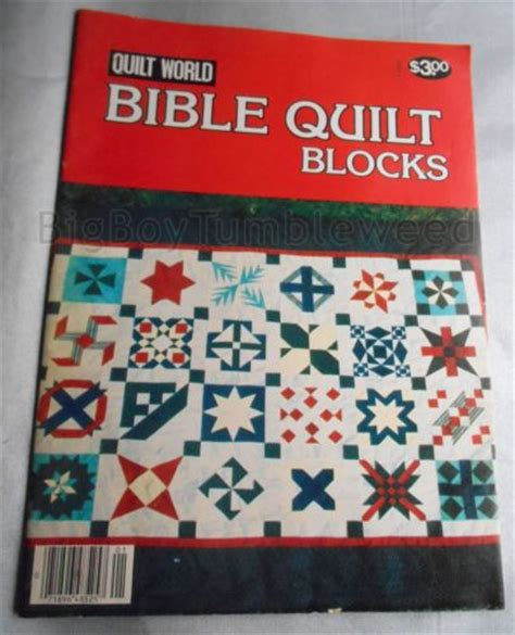 Bible Quilt Blocks by Vintage Quilt World Bible Quilt Blocks Pattern Booklet