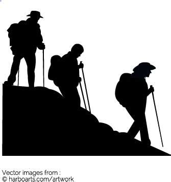 Home Designer Software 2017 download group hiking silhouette vector graphic