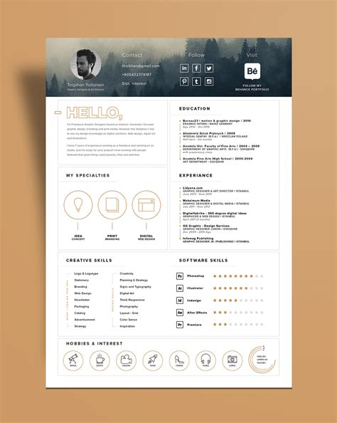 stylish resume templates free free stylish resume template and resume icons ai file