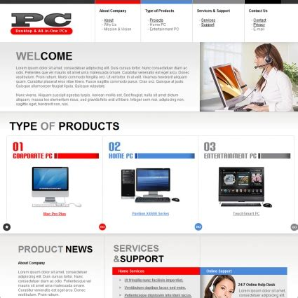 free computer website templates pc template free website templates in css html js format