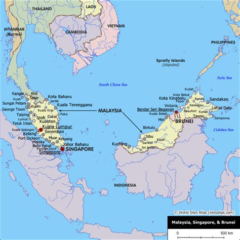 brunei on the world map brunei map