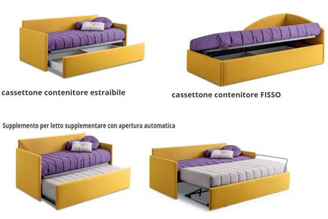 letto supplementare letto singolo erik rivestito in tessuto 100 made in italy