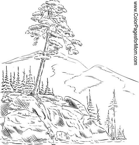 Landscape Pictures To Print And Colour Landscape Coloring Page 54