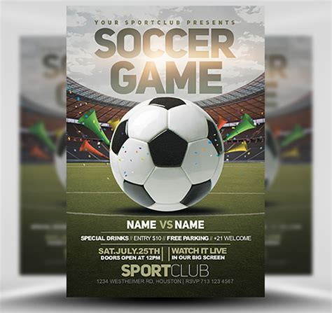 Soccer Templates by Soccer Flyer Template 2 Flyerheroes