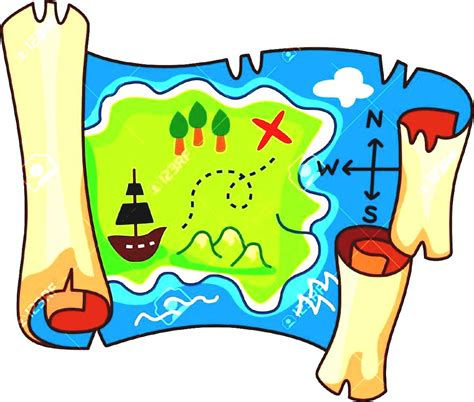 free map graphics printable treasure map clipart best