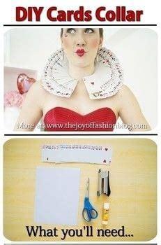 diy queen  hearts costume collar