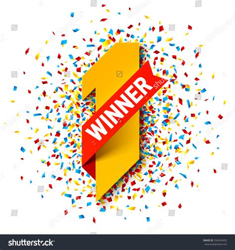 one winner of the first winner number one illustration red stock vector 554245435 shutterstock