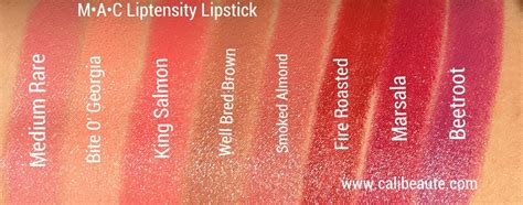 Three Custom Brings Your Favorite Lipstick Back From The Dead by New Mac Liptensity Pencils Liptensity Lipstick Swatches