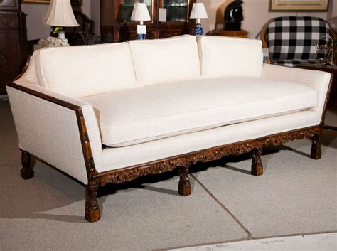 wood frame sofas carved wood frame sofa at 1stdibs