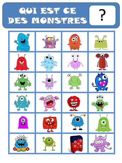 Asmodee Carte Qui Est Ce by Jeu Qui Est Ce Les Monstres Ok 201 Ducation Jeux De Monstre Monstre Maternelle Et
