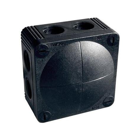Junction Box For Outdoor Light Wiska Black Weatherproof Junction Box External Junction Boxes 10060580 Uk