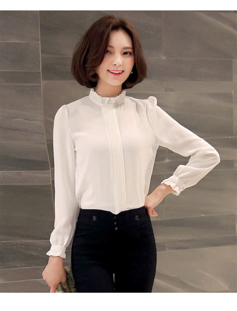 High Neck Blouse S Shirts by High Neck Shirt Sleeve Blouse Office Wear For S