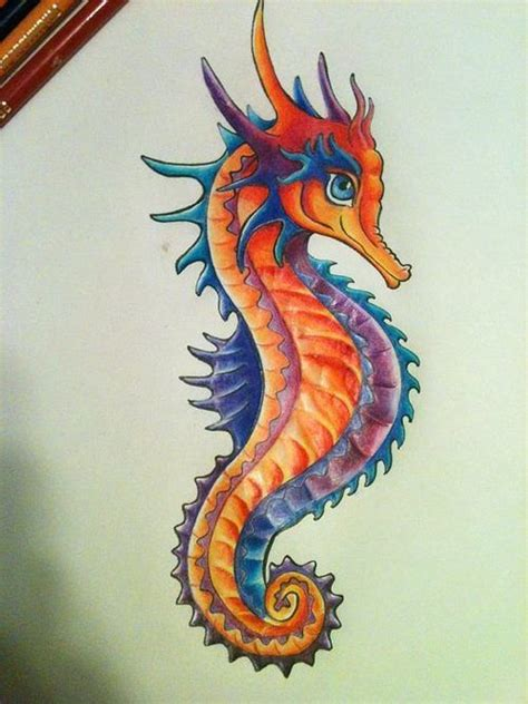 seahorse tattoo design 25 best ideas about seahorse drawing on