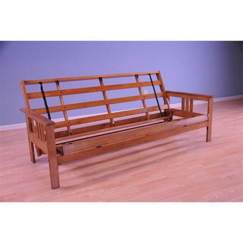 wood futon frame somette beli mont multi flex honey oak size wood