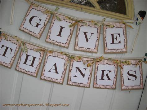 printable banner give thanks nap time journal give thanks banner free printable link