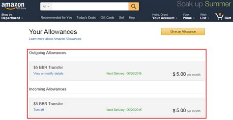 How To Transfer Amazon Gift Card Balance - set up amazon allowance to automatically charge your bofa better balance rewards