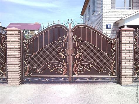 charming home front gate design photos #1: exciting-design-of-main-gate-of-home-made-of-iron-and-shape-your-house-with-fancy-gate-at-the-front-drawhome.jpg