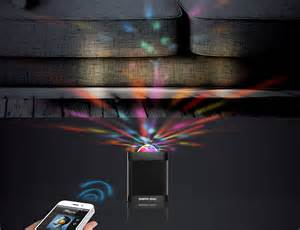 led light show bluetooth speaker with led light show from sharper image