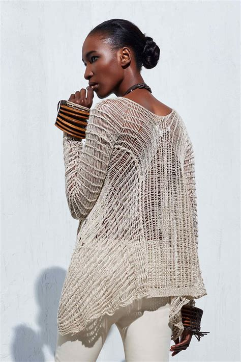 knitting pattern linen sweater long sleeve flare sweater knitted in a scratched detail