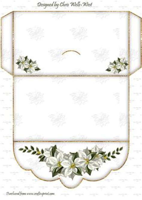 money wallet card template free poinsettia greeting money wallet cup489456 65 craftsuprint