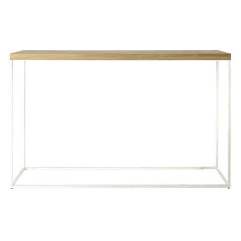 console maison du monde table console en ch 234 ne massif blanche l 130 cm austral