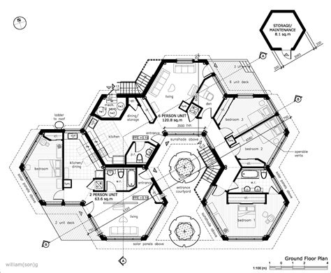 hexagon house floor plans hello do you know how i can do a floor plan that isn t