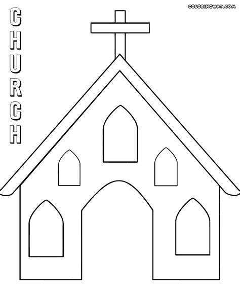 easy church coloring pages easy church drawing sketch coloring page