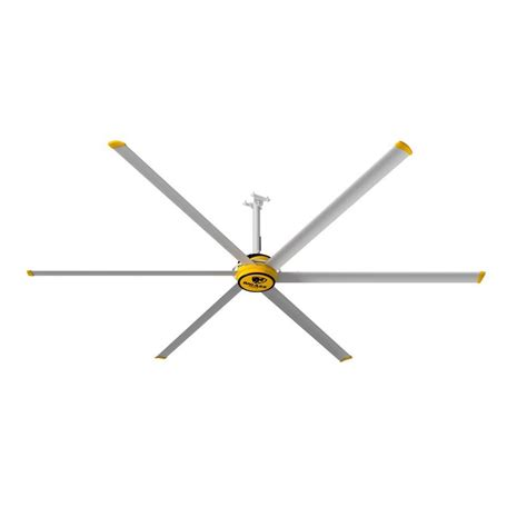 12 Foot Ceiling Fan by Big Fans 3600 12 Ft Yellow And Silver Aluminum Shop