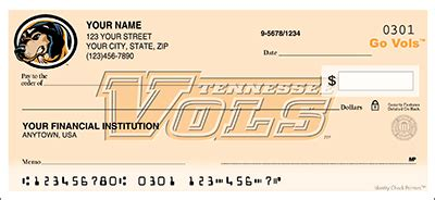 Tn Background Check Tennessee Checks Tennessee Ncaa Logo Personal Check Designs Checkspressions