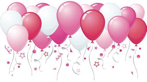Pink birthday balloons clipart 42