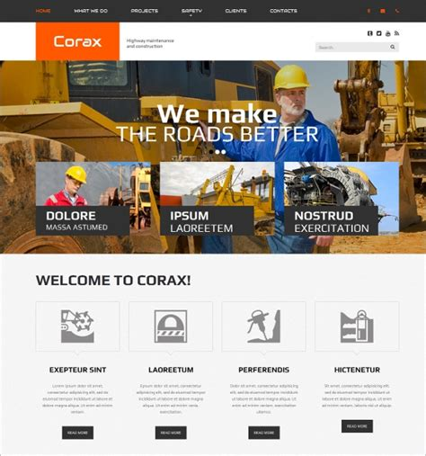30 Construction Website Themes Templates Free Premium Templates Best Construction Website Templates