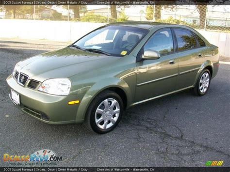 2005 suzuki forenza s sedan desert green metallic gray