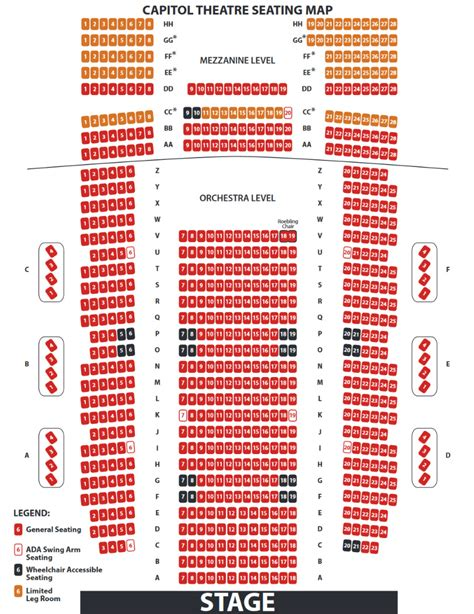 capitol theatre port chester seating chart capitol theater seating chart capitol theatre