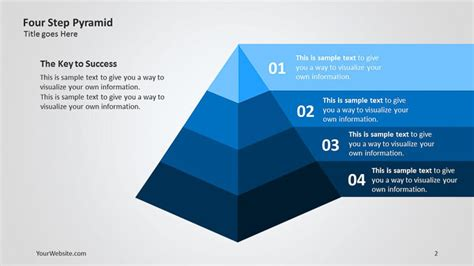 Four Step Pyramid 3d Ppt Diagram Slide Ocean Pyramid Powerpoint Template