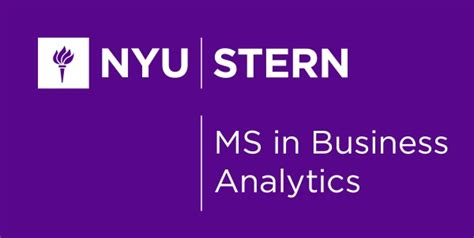 Nyu Mba Electives by Nyu Master Of Science In Business Analytics
