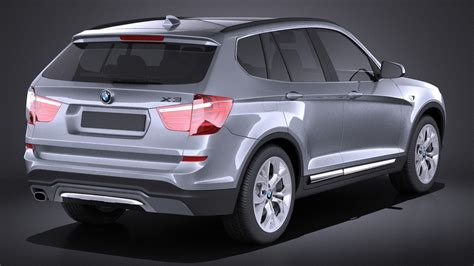new models bmw 2015 bmw x3 2015 vray 3d model max obj 3ds fbx c4d lwo lw lws