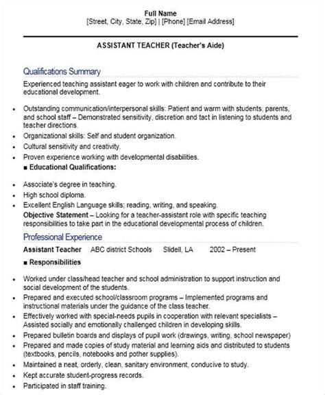 Assistant Instructor Resume by 42 Resume Formats